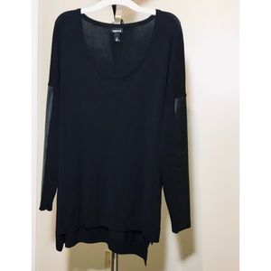 NWOT Torrid sz 1 Leather Accented Long Sleeve Top
